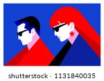 couple in love  two lovers  man ... | Shutterstock .eps vector #1131840035