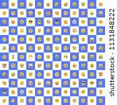 set of all face emojis ... | Shutterstock .eps vector #1131848222