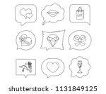 love heart  brilliant and... | Shutterstock .eps vector #1131849125