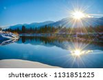 Sun Reflection In The Water Of...