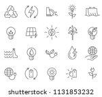 set of renewable energy related ... | Shutterstock .eps vector #1131853232