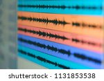 wave file of sound on monitor   ...   Shutterstock . vector #1131853538