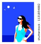 summer holidays concept.... | Shutterstock .eps vector #1131854882