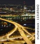 Vienna city at night - stock photo