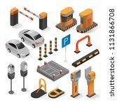 isometric parking elements.... | Shutterstock .eps vector #1131866708