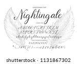 nightingale. handdrawn... | Shutterstock .eps vector #1131867302