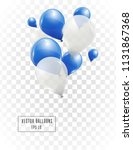blue and white helium vector... | Shutterstock .eps vector #1131867368