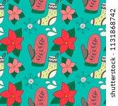 christmas vector seamless... | Shutterstock .eps vector #1131868742