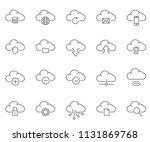 set of cloud related vector... | Shutterstock .eps vector #1131869768