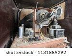 view inside dusty vintage 1950s ... | Shutterstock . vector #1131889292