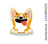 cute cartoon dog of welsh corgi ...   Shutterstock .eps vector #1131890225