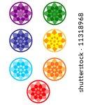 seven chakra's sign. | Shutterstock .eps vector #11318968