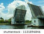 vintage miami river drawbridge... | Shutterstock . vector #1131896846