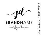 monogram   initial jd...   Shutterstock .eps vector #1131907112
