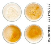 beer bubbles in glass cup on... | Shutterstock . vector #1131907172