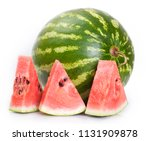 watermelon isolated on white... | Shutterstock . vector #1131909878