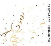 golden star ribbon confetti.... | Shutterstock .eps vector #1131910862