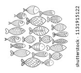 school of fish. a group of... | Shutterstock .eps vector #1131915122