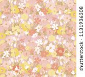 cute pattern in small flowers.... | Shutterstock .eps vector #1131936308