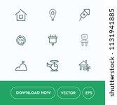 modern  simple vector icon set... | Shutterstock .eps vector #1131941885