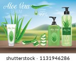 aloe vera packaging ... | Shutterstock .eps vector #1131946286