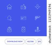 modern  simple vector icon set... | Shutterstock .eps vector #1131949196