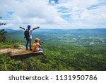 lover woman and men asians... | Shutterstock . vector #1131950786