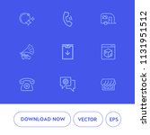 modern  simple vector icon set...   Shutterstock .eps vector #1131951512