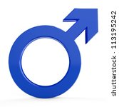3d male symbols... 3d male... | Shutterstock . vector #113195242