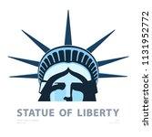 portrait. statue of liberty usa ...   Shutterstock .eps vector #1131952772