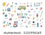 back to school doodle... | Shutterstock . vector #1131956165