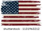 american flag.grunge flag of... | Shutterstock .eps vector #1131963212