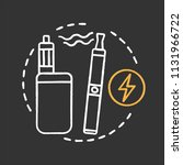 vape shop chalk concept icon.... | Shutterstock .eps vector #1131966722