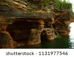 the sandstone sea caves of... | Shutterstock . vector #1131977546