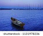 small sailboat at the marina at ... | Shutterstock . vector #1131978236