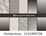 collection of seamless... | Shutterstock .eps vector #1131983738