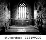 The Altar  Iona Abbey On The...