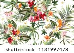 seamless floral pattern with... | Shutterstock . vector #1131997478