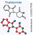 thalidomide molecule. is used... | Shutterstock .eps vector #1132017935