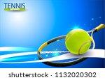 vector tennis ball. a realistic ...   Shutterstock .eps vector #1132020302