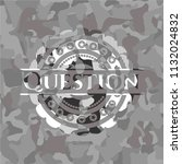 question on grey camouflaged... | Shutterstock .eps vector #1132024832