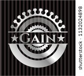gain silvery shiny emblem   Shutterstock .eps vector #1132024898