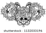 vector illustration. wreath of... | Shutterstock .eps vector #1132033196