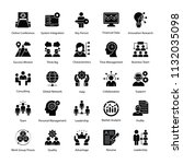 business management glyph icons | Shutterstock .eps vector #1132035098