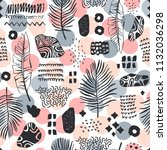 seamless pattern with hand... | Shutterstock .eps vector #1132036298