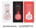 shana tova card  rosh hashanah... | Shutterstock .eps vector #1132038752