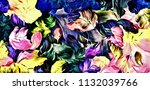 abstract psychedelic background ... | Shutterstock . vector #1132039766