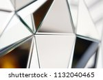 mirror with crystals in wall ... | Shutterstock . vector #1132040465