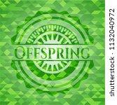 offspring green emblem with...   Shutterstock .eps vector #1132040972