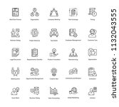 business management line icons... | Shutterstock .eps vector #1132043555